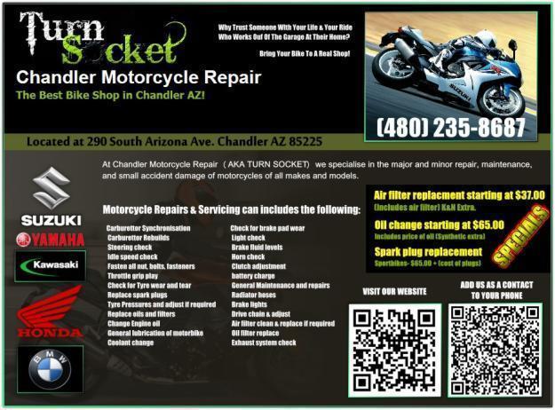 CHANDLER MOTORCYCLE REPAIR - THE BEST MOTORCYCLE REAPAIR SHOP IN CHANDLER