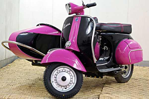 1966 Vespa 150 Scooter with Sidecar
