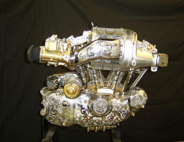 71 XLH BLOWN SHOW MOTOR GOLD AND SILVER IRONHEAD CUSTOM
