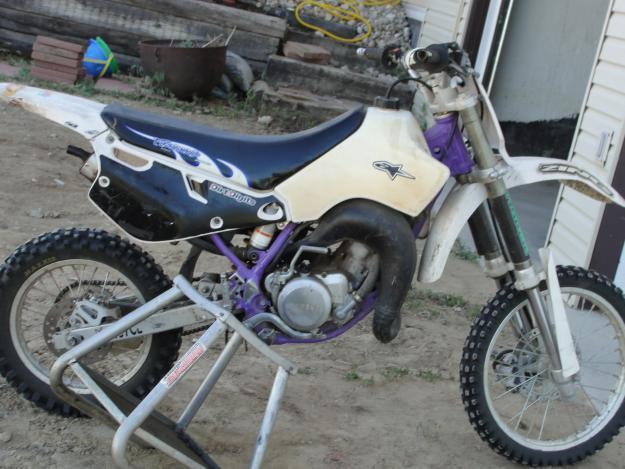 Two YZ80 Dirt bikes