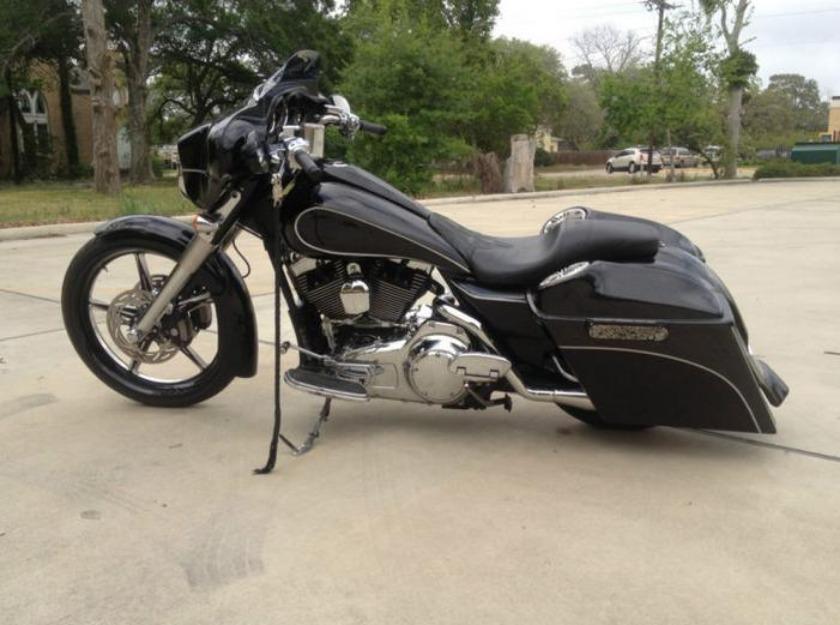 2008 harley davidson street glide custom bagger 23 inch stretched