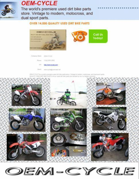 Used Dirtbike Parts