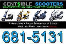 Scooter Sales & Service - CENT$IBLE SCOOTERS