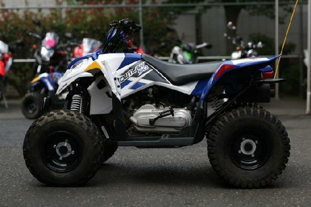 2013 Polaris Outlaw 90 Boardwalk Blue and White - MotoSport ,